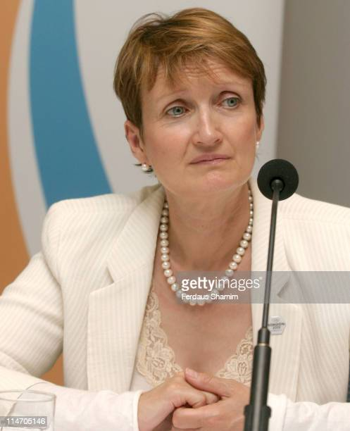 Tessa Jowell during London's 2012 Olympics Bid Committee Press Conference at DCMS London in London Great Britain