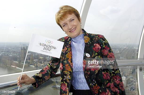 Tessa Jowell during Youngsters Win Olympic Funding Photocall at London Eye in London Great Britain