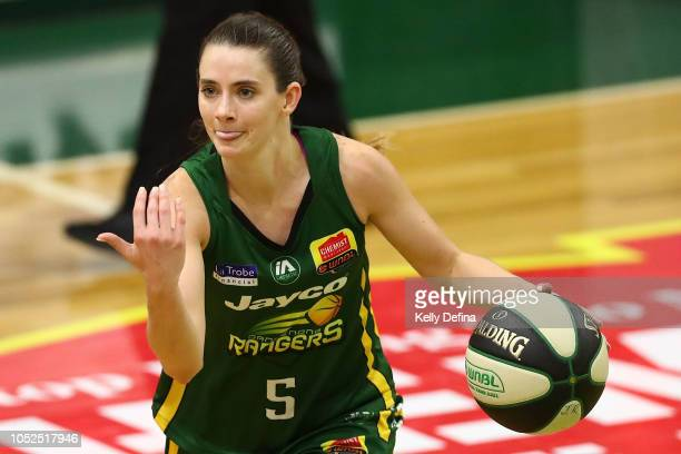 Tessa Lavey of the Rangers brings the ball down the court in her 150th WNBL game during the round two WNBL match between Dandenong and Sydney Uni on...