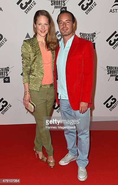 Tessa Mittelstaedt and John Friedmann attend the Shocking Shorts Award 2015 during the Munich Film Festival on June 30 2015 in Munich Germany