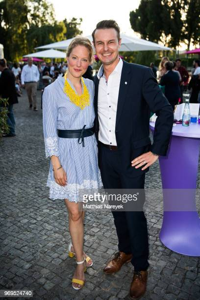 Tessa Mittelstaedt and Ralph Homuth attend the Summer Party of the German Producers Alliance on June 7 2018 in Berlin Germany