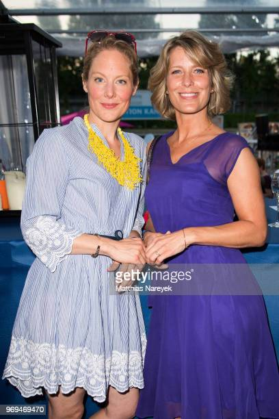 Tessa Mittelstaedt and Valerie Niehaus attend the Summer Party of the German Producers Alliance on June 7 2018 in Berlin Germany
