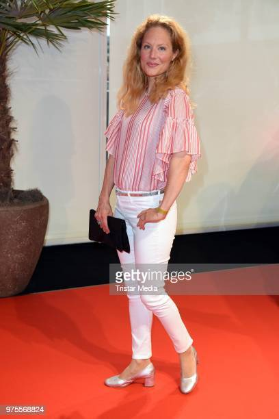 Tessa Mittelstaedt attends the cocktail party during the semifinal round of judging of the International Emmy Awards 2018 on June 15 2018 in Berlin...