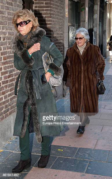 Tessa of Baviera attends the funeral service for Princess Sandra Torlonia grand daughter of King Alfonso XIII of Spain on January 17 2015 in Madrid...