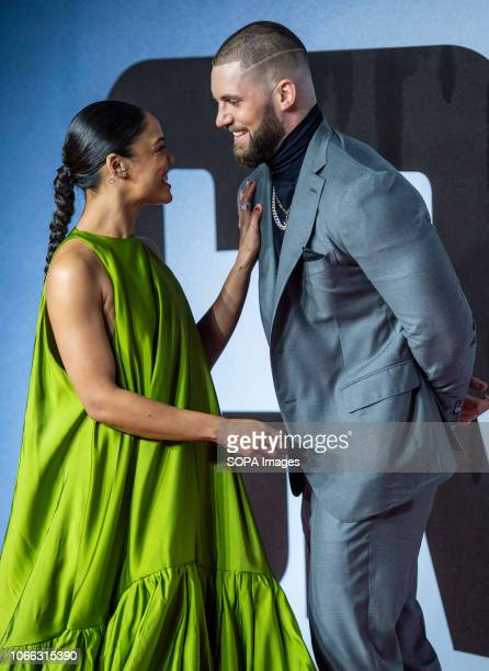 Tessa Thompsom and Florian Munteanu attends the European Premiere of 'Creed II' at BFI IMAX