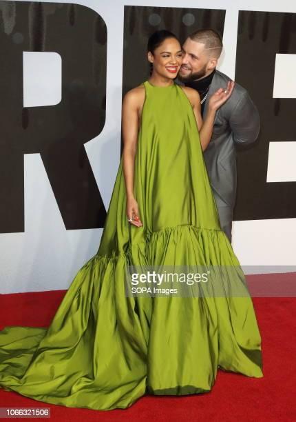 Tessa Thompson and Florian Munteanu at the Creed 2 UK Premiere at the BFI Imax