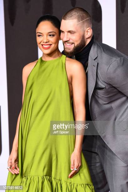 Tessa Thompson and Florian Munteanu attend the European Premiere of Creed II at BFI IMAX on November 28 2018 in London England