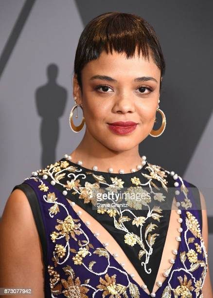 Tessa Thompson arrives at the Academy Of Motion Picture Arts And Sciences' 9th Annual Governors Awards at The Ray Dolby Ballroom at Hollywood...
