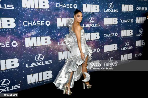 Tessa Thompson at the World Premiere of Columbia Pictures' MEN IN BLACK™ INTERNATIONAL sponsored by Lexus at AMC Lincoln Square on June 11 2019 in...