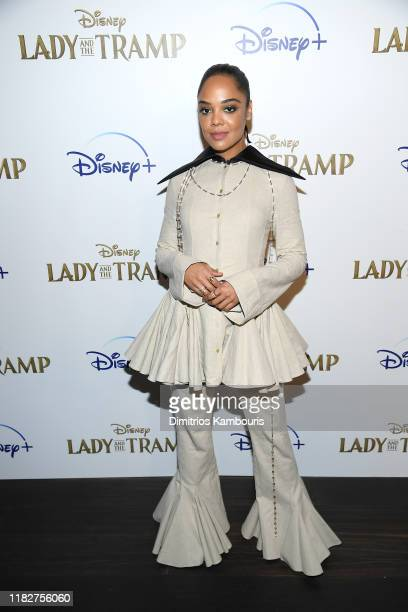 Tessa Thompson attends as Cinema Society hosts a special screening of Disney's Lady And The Tramp at iPic Theater on October 22 2019 in New York City