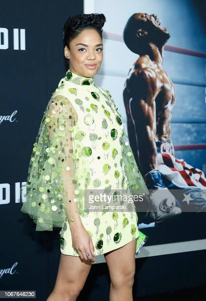 Tessa Thompson attends 'Creed II' New York Premiere at AMC Loews Lincoln Square on November 14 2018 in New York City