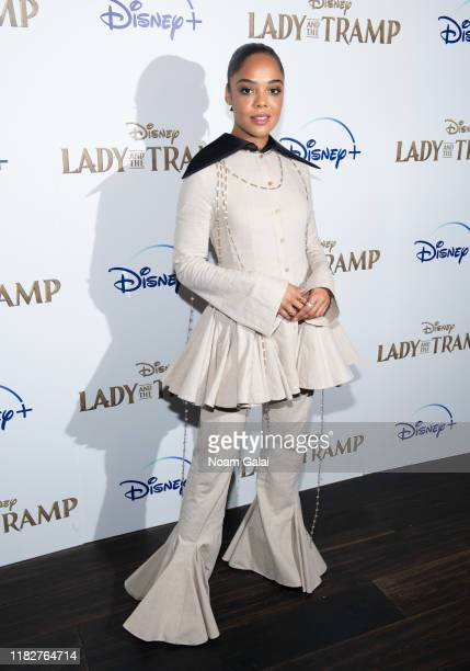 Tessa Thompson attends Disney's Lady and the Tramp New York Screening at iPic Theater on October 22 2019 in New York City