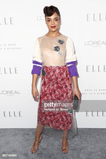 Tessa Thompson attends ELLE's 24th Annual Women in Hollywood Celebration at Four Seasons Hotel Los Angeles at Beverly Hills on October 16 2017 in Los...