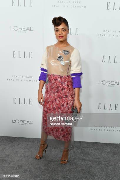 Tessa Thompson attends ELLE's 24th Annual Women in Hollywood Celebration presented by L'Oreal Paris Real Is Rare Real Is A Diamond and CALVIN KLEIN...