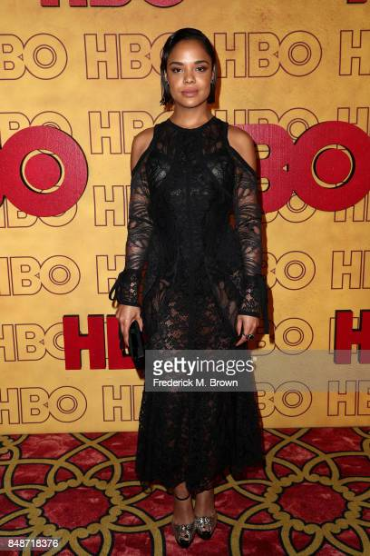 Tessa Thompson attends HBO's Post Emmy Awards Reception at The Plaza at the Pacific Design Center on September 17 2017 in Los Angeles California