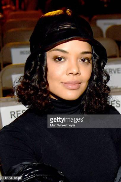 Tessa Thompson attends the 2019 Sundance Film Festival Awards Night Presenters Reception at Basin Recreation Field House on February 02 2019 in Park...