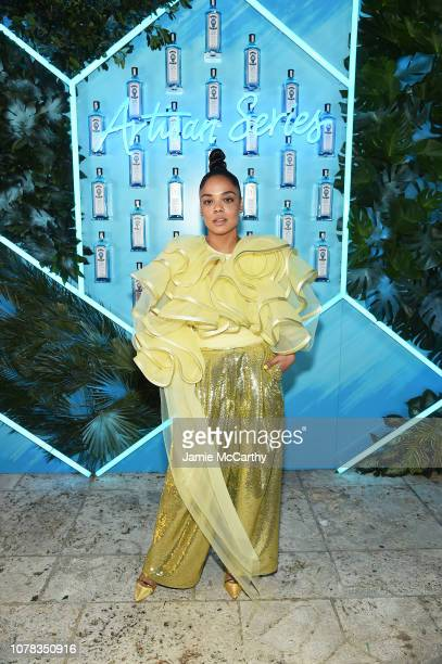 Tessa Thompson attends the 9th Annual Bombay Sapphire Artisan Series Finale Hosted By Tessa Thompson at Villa Casa Casuarina on December 06 2018 in...