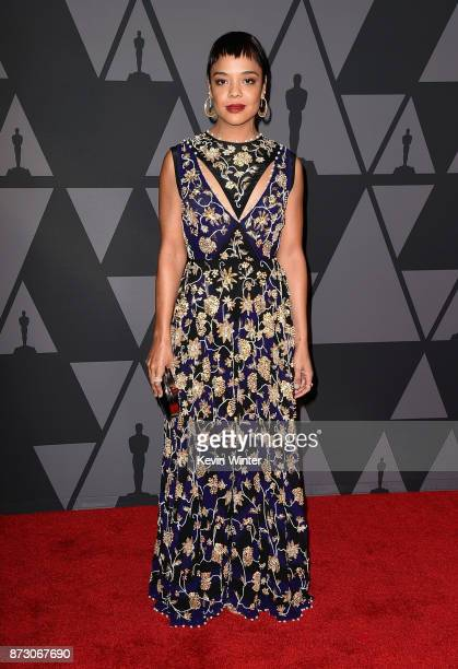 Tessa Thompson attends the Academy of Motion Picture Arts and Sciences' 9th Annual Governors Awards at The Ray Dolby Ballroom at Hollywood Highland...