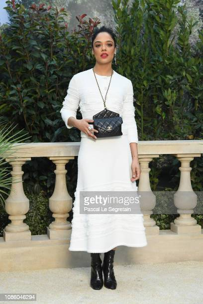 Tessa Thompson attends the Chanel Haute Couture Spring Summer 2019 show as part of Paris Fashion Week on January 22 2019 in Paris France