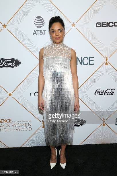 Tessa Thompson attends the Essence 11th Annual Black Women In Hollywood Awards Gala at the Beverly Wilshire Four Seasons Hotel on March 1 2018 in...