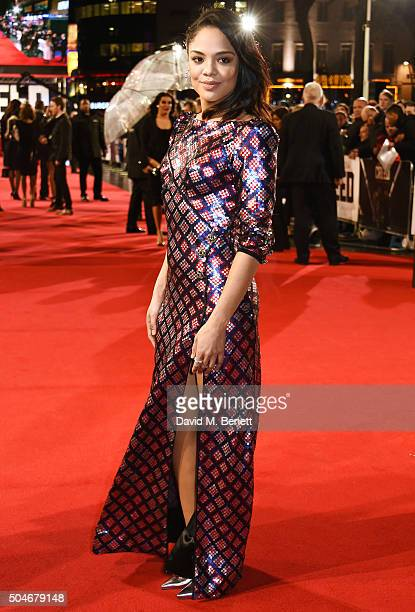 Tessa Thompson attends the European Premiere of 'Creed' at Empire Leicester Square on January 12 2016 in London England