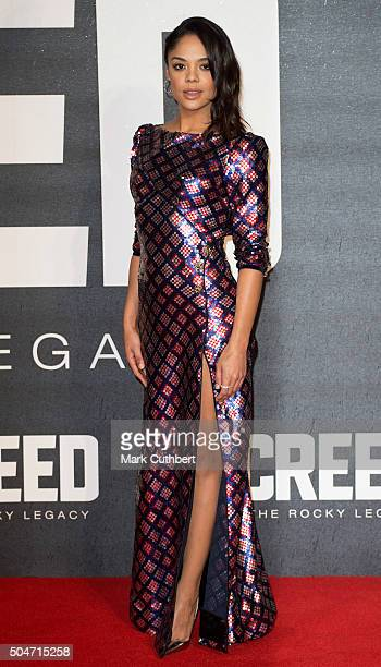 Tessa Thompson attends the European Premiere of 'Creed' on January 12 2016 in London England