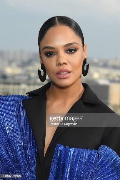 PARIS FRANCE JUNE Tessa Thompson attends the photocall for Men in Black film at Cite de l'Architecture et du Patrimoine on June 04 2019 in Paris...