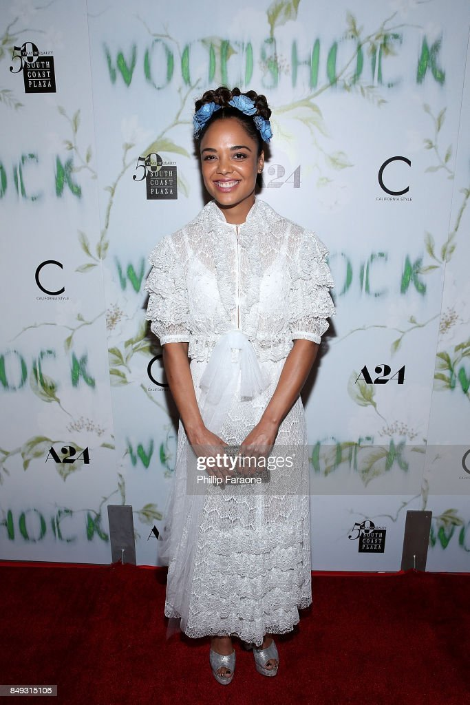 Tessa Thompson attends the premiere of A24's 'Woodshock' at ArcLight Cinemas on September 18, 2017 in Hollywood, California.