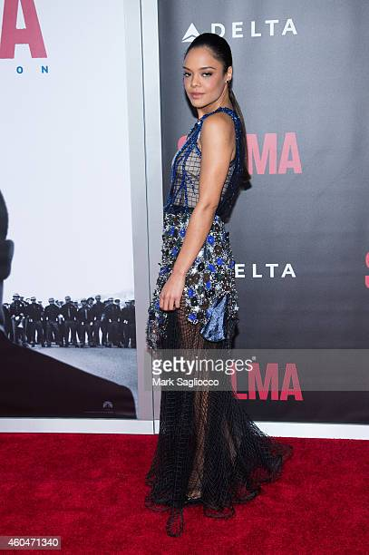 Tessa Thompson attends the 'Selma' New York Premiere at the Ziegfeld Theater on December 14 2014 in New York City