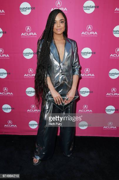 Tessa Thompson attends the Sundance Institute at Sundown Summer Benefit at the Ace Hotel on June 14 2018 in Los Angeles California