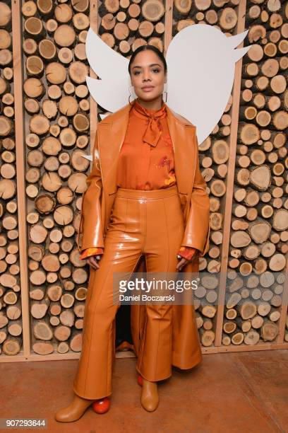 Tessa Thompson attends Twitter and ARRAYs #HereWeAre brunch at the #TwitterLodge during the 2018 Sundance Film Festival on January 19 2018 in Park...