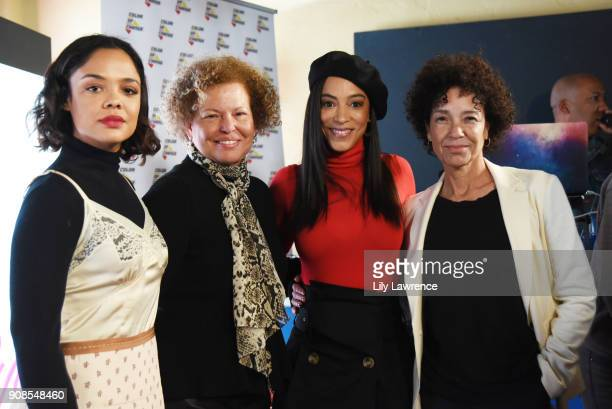 Tessa Thompson Debra L Lee Angela Rye and Stephanie Allain attend 'On One with Angela Rye' Presents Black Women Are Leading The Revolution during the...