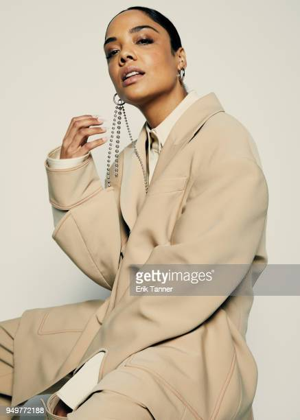 Tessa Thompson of the film Little Woods poses for a portrait during the 2018 Tribeca Film Festival at Spring Studio on April 21 2018 in New York City