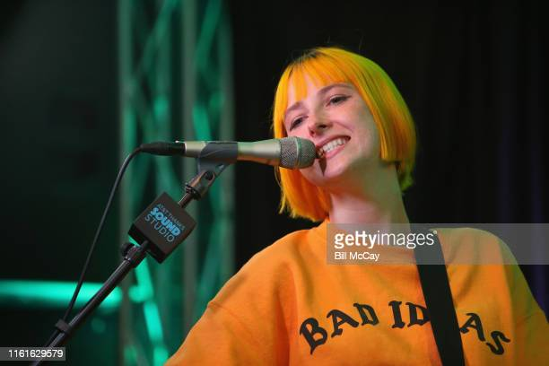 Tessa Violet performs at the Radio 1045 Performance Theater August 14 2019 in Bala Cynwyd Pennsylvania