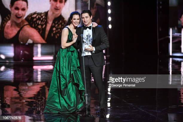 Tessa Virtue and Scott Moir attend 2018 Canada's Walk Of Fame Awards held at Sony Centre for the Performing Arts on December 1 2018 in Toronto Canada