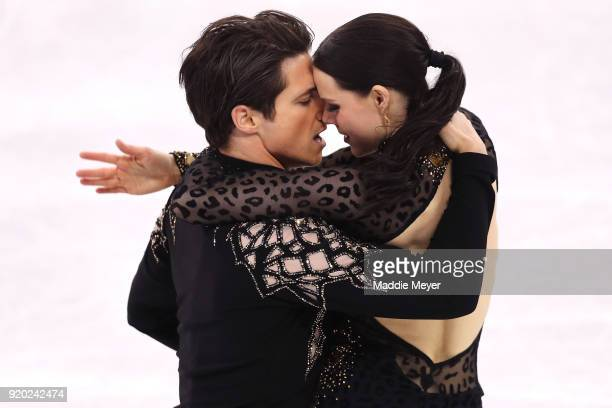 Tessa Virtue and Scott Moir of Canada compete during the Figure Skating Ice Dance Short Dance on day 10 of the PyeongChang 2018 Winter Olympic Games...