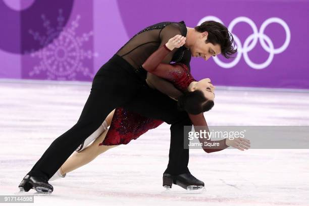Tessa Virtue and Scott Moir of Canada compete in the Figure Skating Team Event – Ice Dance Free Dance on day three of the PyeongChang 2018 Winter...
