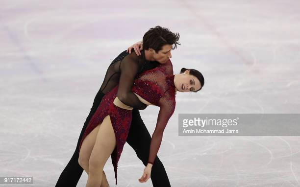 Tessa Virtue and Scott Moir of Canada compete in the Figure Skating Team Event Ice Dance Free Dance on day three of the PyeongChang 2018 Winter...