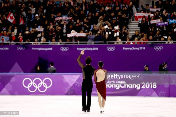 Tessa Virtue and Scott Moir of Canada compete in the Figure Skating Ice Dance Free Dance on day eleven of the PyeongChang 2018 Winter Olympic Games...