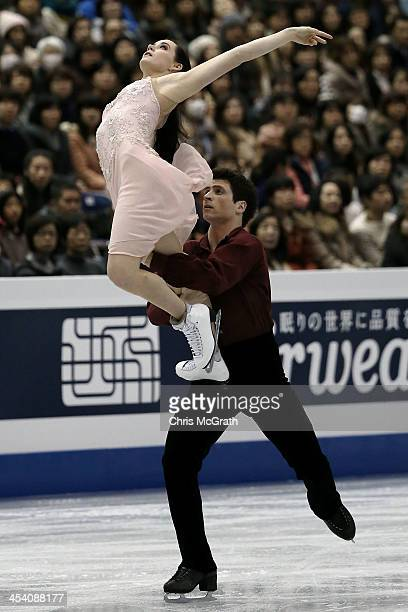 Tessa Virtue and Scott Moir of Canada compete in the Ice Dance Free Dance Final during day three of the ISU Grand Prix of Figure Skating Final...