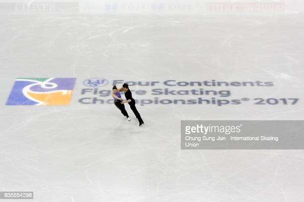 Tessa Virtue and Scott Moir of Canada compete in the Ice Dance Short during ISU Four Continents Figure Skating Championships - Gangneung -Test Event...