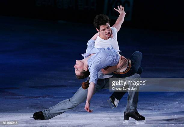 Tessa Virtue and Scott Moir of Canada perform during Festa on Ice 2009 at KINTEX on April 24 2009 in Goyang South Korea