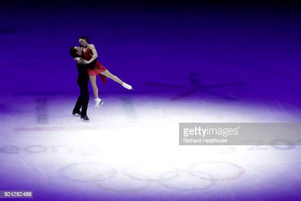Tessa Virtue and Scott Moir of Canada perform during the Figure Skating Gala Exhibition on day 16 of the PyeongChang 2018 Winter Olympics at...