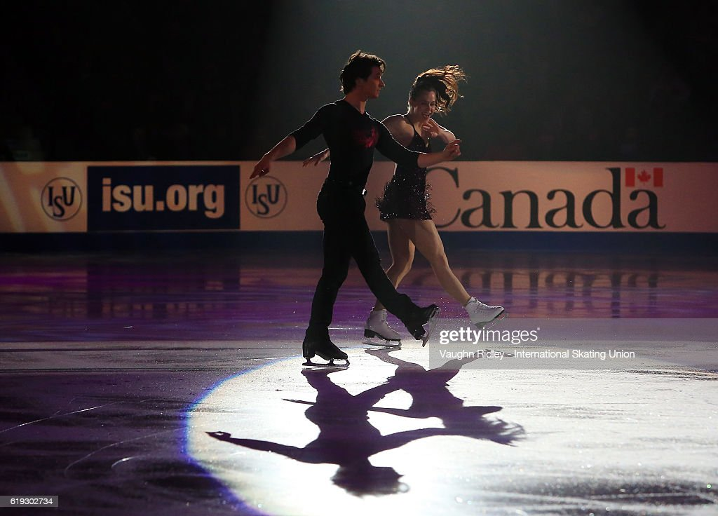 Tessa Virtue and Scott Moir of Canada perform in the Exhibition Gala during the ISU Grand Prix of Figure Skating Skate Canada International at Hershey Centre on October 30, 2016 in Mississauga, Canada.