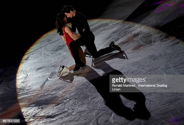 Tessa Virtue and Scott Moir of Canada perform in the exhibition gala during the ISU Grand Prix of Figure Skating at Brandt Centre on October 29 2017...