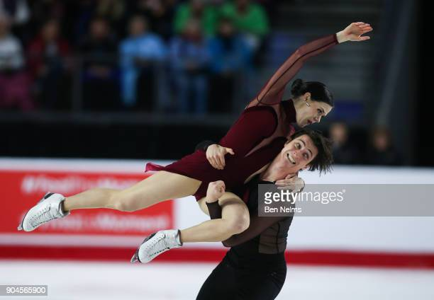 Tessa Virtue and Scott Moir of Canada perform their ice dance during the 2018 Canadian Tire National Skating Championships game at the Doug Mitchell...