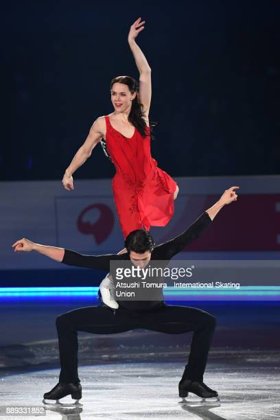 Tessa Virtue and Scott Moir of Canada perform their routine in the Gala exhibition during the ISU Junior Senior Grand Prix of Figure Skating Final at...