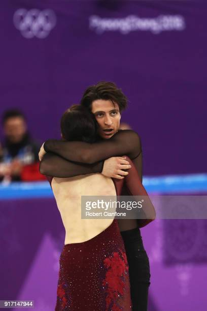 Tessa Virtue and Scott Moir of Canada skate during the Ice Dance Free Dance section of the Team Event on day three of the PyeongChang 2018 Winter...