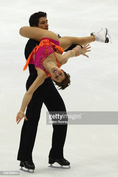 Tessa Virtue and Scott Moir of Canada skate in the Ice Dance Free Dance during day two of the Four Continents Figure Skating Championships at Taipei...