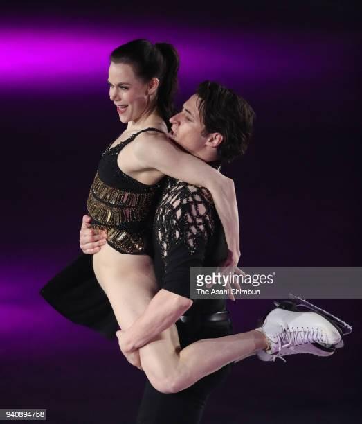 Tessa Virtue and Scott Moir perform during the Stars On Ice at Towa Yakuhin Ractab Dome on March 31 2018 in Kadoma Osaka Japan